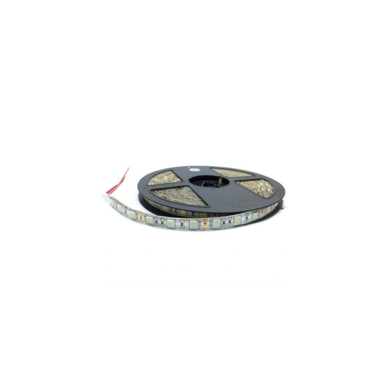 Banda LED 5050 Alb Cald 12V, 60 LED/m, IP20 (NW)