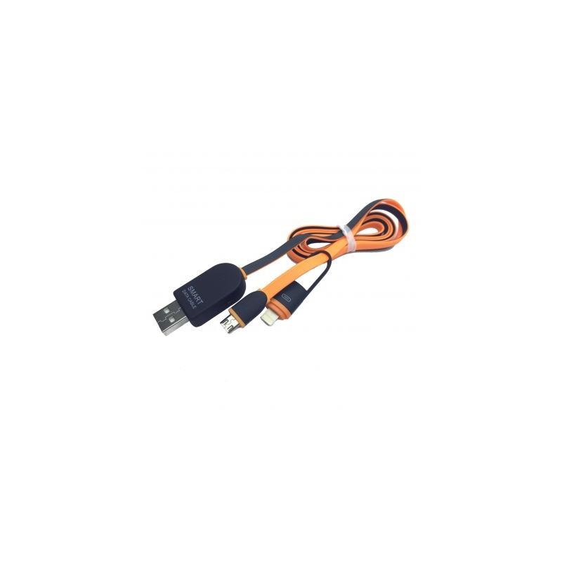 Cablu USB 2 in 1 cu afisaj voltaj si amperaj