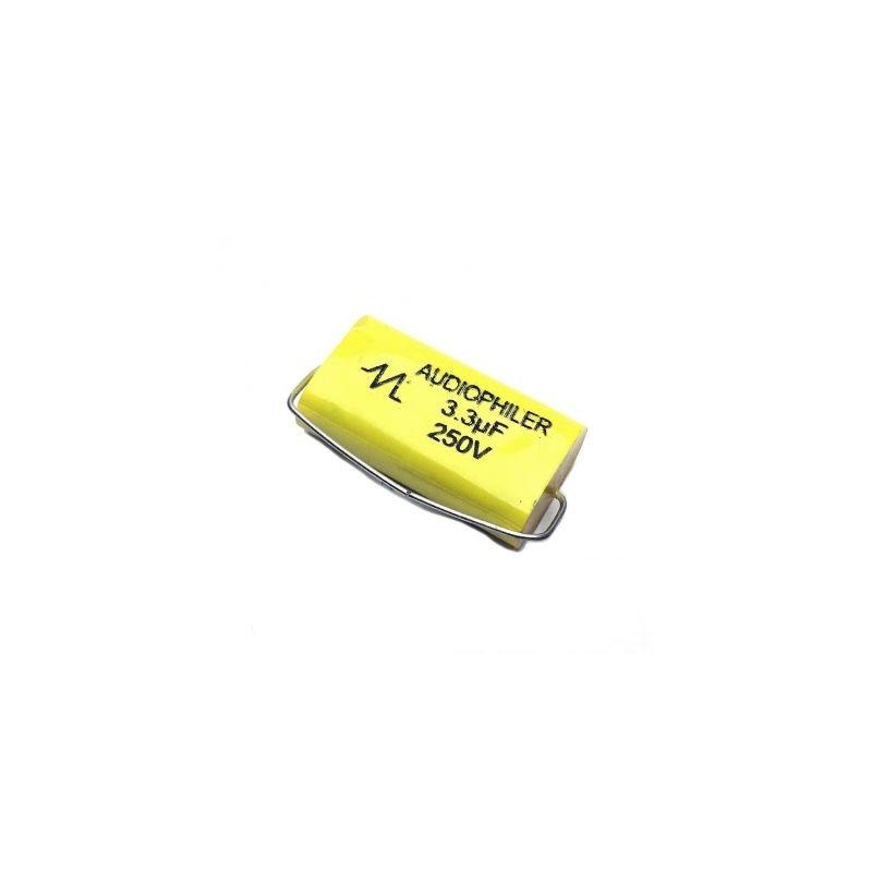 Condensator audio MKP galben 3.3uf/250V