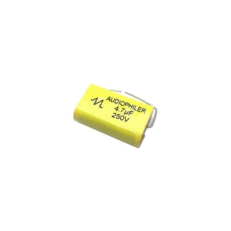 Condensator audio MKP galben 4.7uf/250V