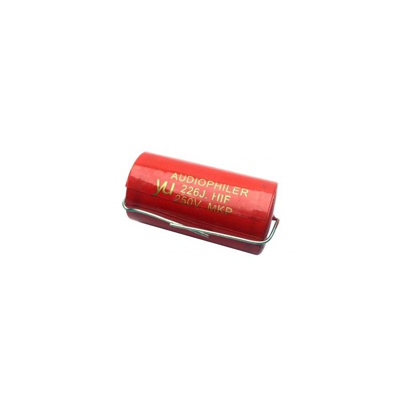Condensator audio Audiophiler MKP rosu 22uf/250V