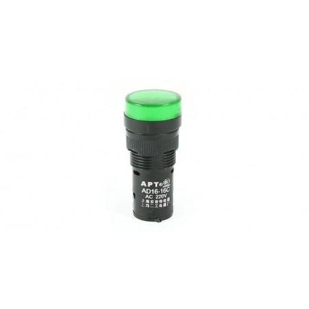 Lampa de panou cu led 220V culoare verde (dimensiune mica)