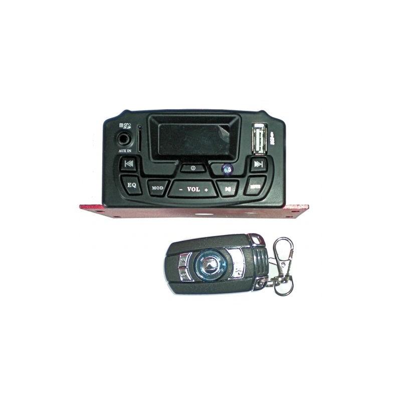 Amplificator audio Motociclete, microSD, USB