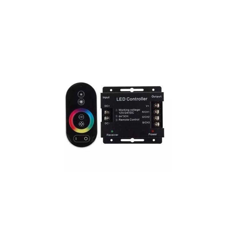 Controler banda led RGB, 6A*3Ch + Telecomanda touch controller