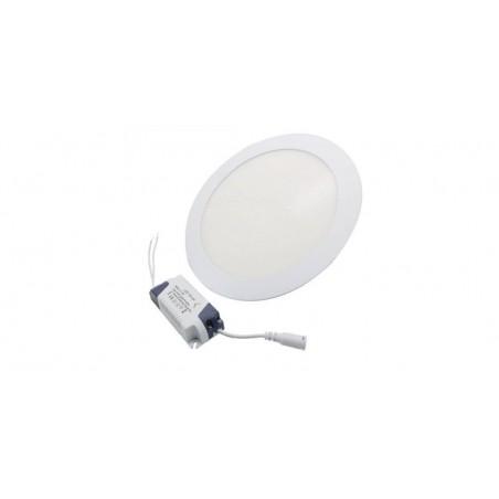Panou cu LED rotund incastrabil, diametru 30cm, alb natural, 4500K, ultra-slim, 24W, 85-265V AC, (driver 54-96V)
