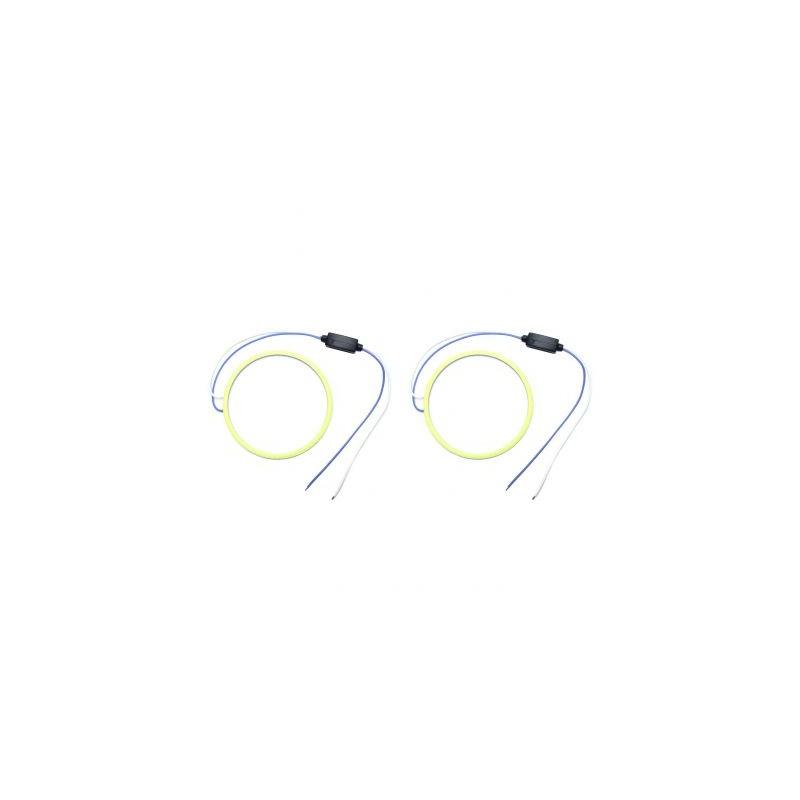 Angel eyes 90mm, Alb Rece, cablu 30 cm + driver LED90-100B