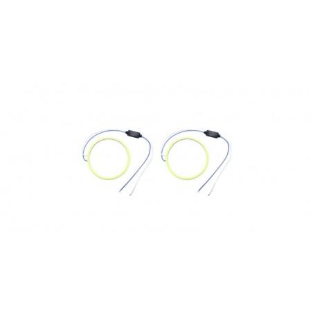 Angel eyes 90mm, LED COB Alb Rece, cablu 30 cm + driver LED80-90B