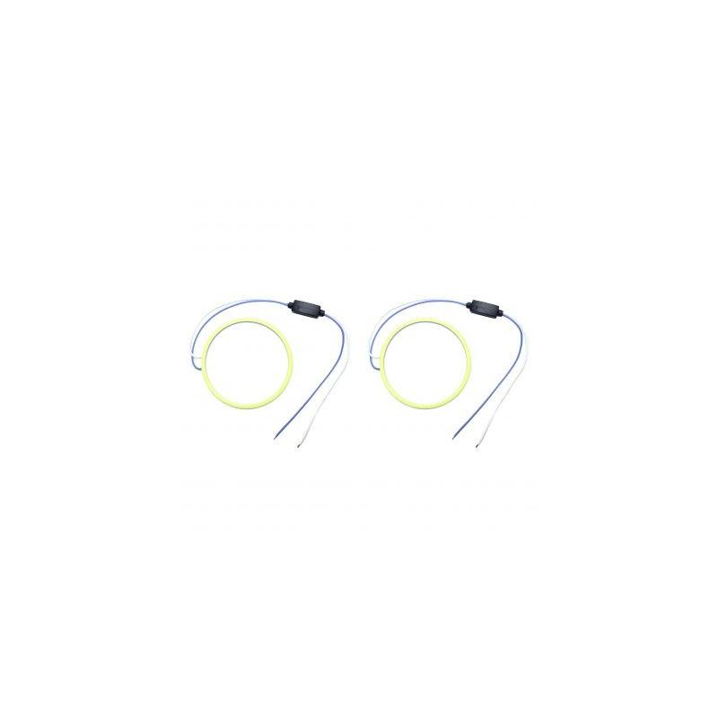 Angel eyes 80mm, Alb Rece, cablu 30 cm + driver LED70-80B