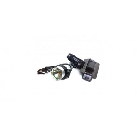 Lanterna de cap / Proiector, 1 LED, Alb rece, 850Lm, (include acumulator, incarcator, prindere)