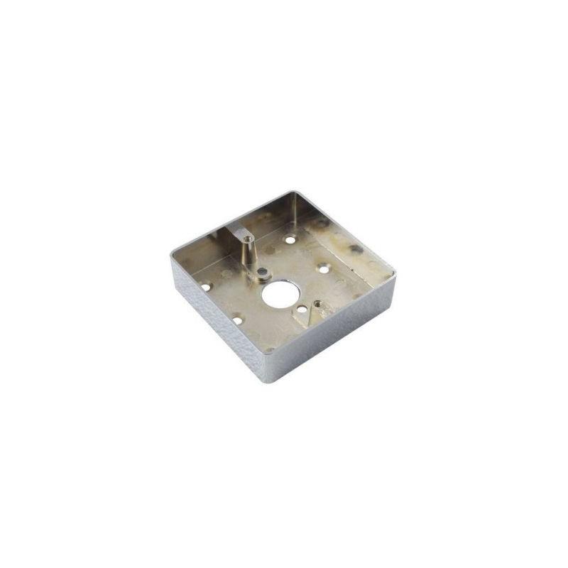 Carcasa metalica pentru montarea aplicata a butoanelor din