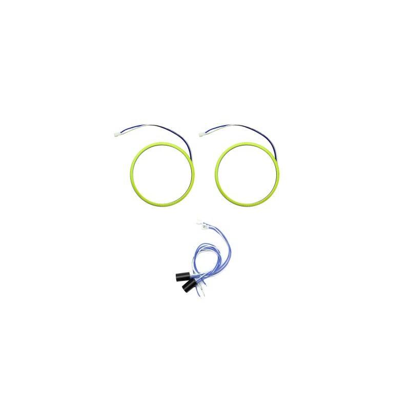 Angel eyes 90mm, Alb Rece, cablu 60 cm + driver detasabil LED80-90A