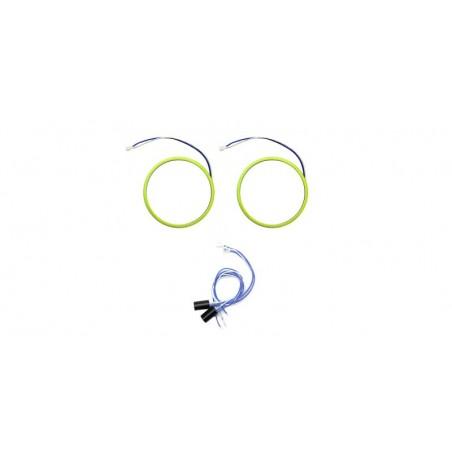 Angel eyes 90mm, LED COB Alb Rece, cablu 60 cm + driver detasabil LED80-90A