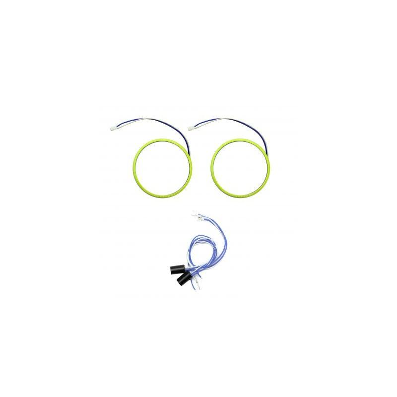 Angel eyes 80mm, LED COB Alb Rece, cablu 60 cm + driver