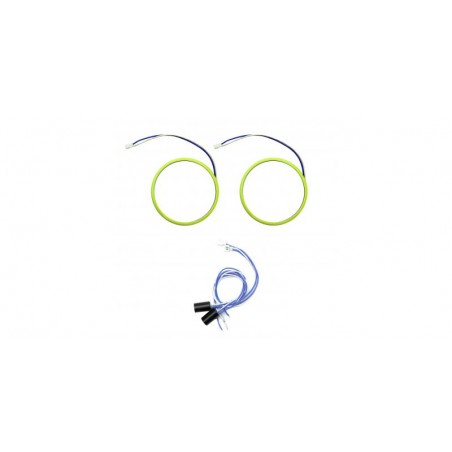 Angel eyes 80mm, LED COB Alb Rece, cablu 60 cm + driver detasabil LED70-80A