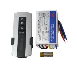 Kit lustra cu telecomanda RF 1 modul cu 3 receptoare ABC