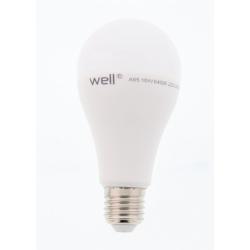 Bec cu led A65 E27 15W 230V lumina rece Well LEDLC-A6515E27-WL