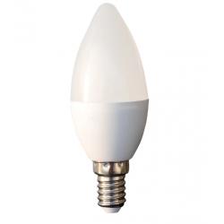 Bec cu led lumanare E14 7W 230V lumina calda, Well
