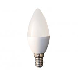 Bec cu led lumanare 6W alb rece LEDLC-C376E14-WL