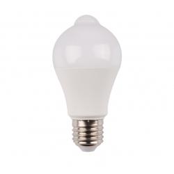 Bec cu LED cu senzor PIR A60 10W lumina rece, Well