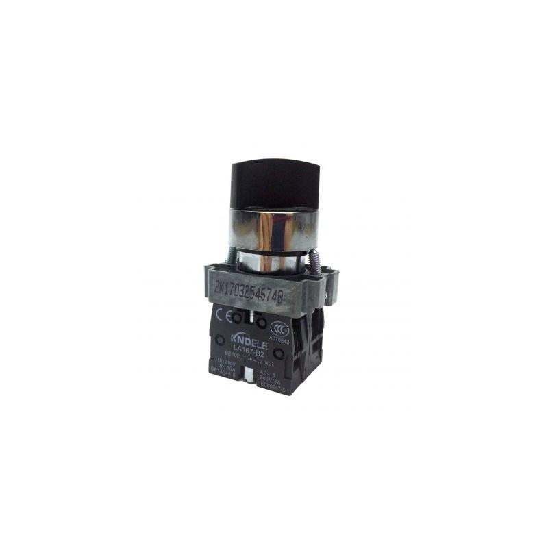 Comutator ON-OFF 0-1 cu 2 pozitii LA167-B2-BD25