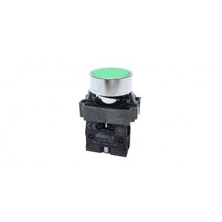 Buton verde cu apasare cu un contact si 2 pozitii LA167-B2-BA31