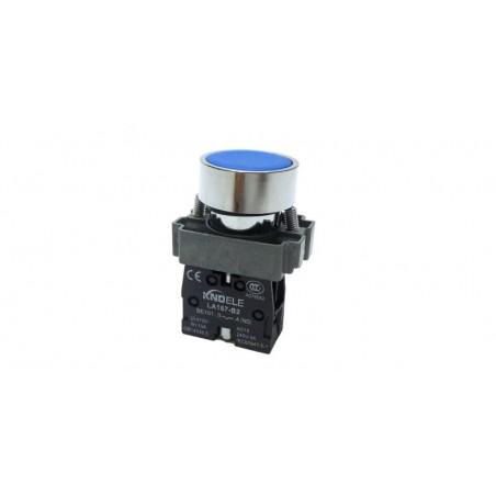 Buton albastru cu apasare cu un contact si 2 pozitii LA167-B2-BA61