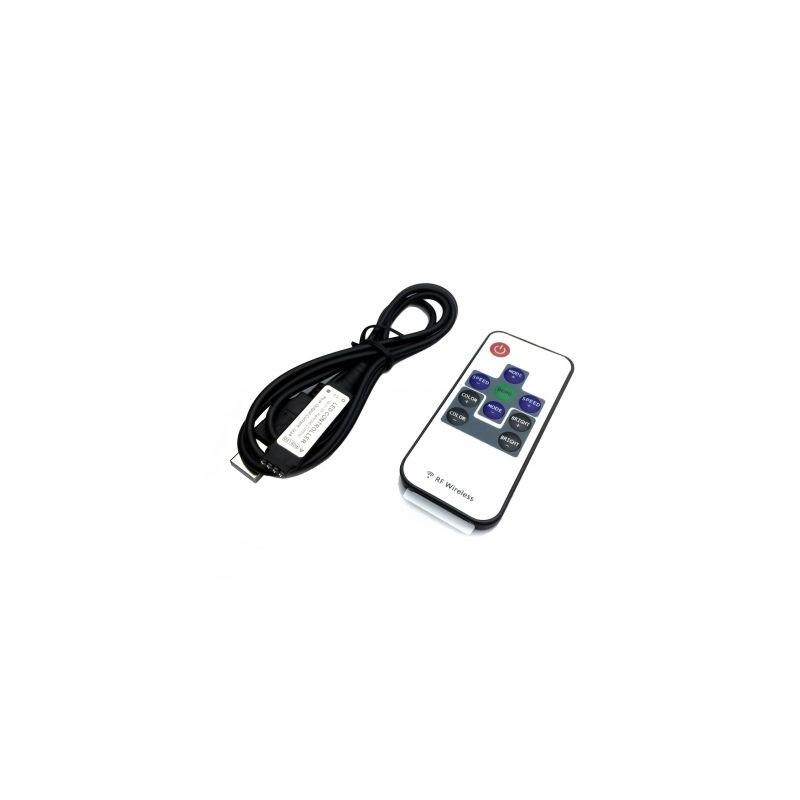 Controller RGB RF 10 taste, USB, curent maxim 3x2A, 5V