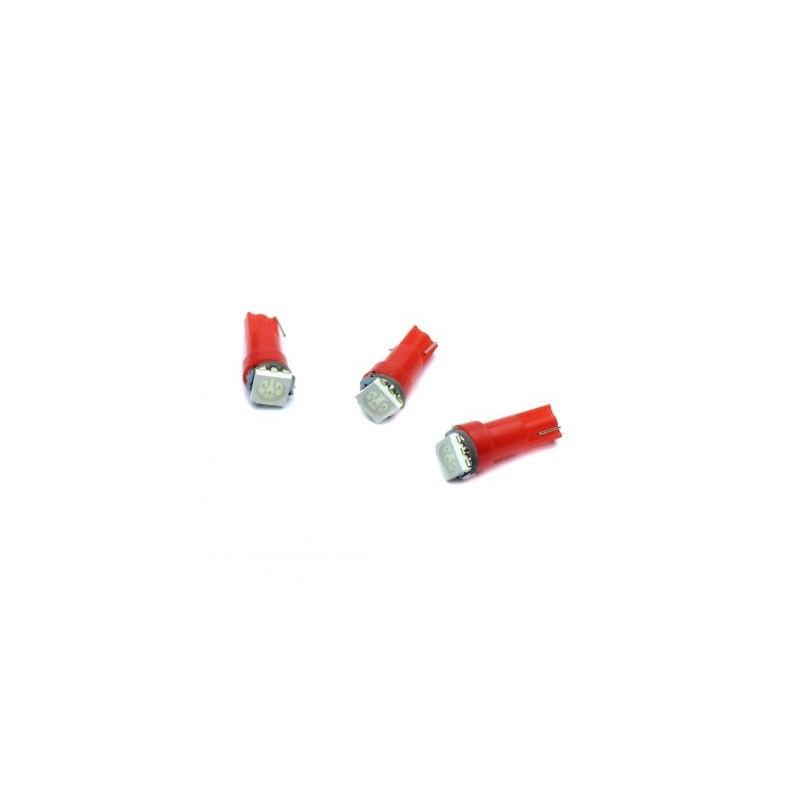LED auto soclu T5 1x5050 ROSU, 12V, 16mA