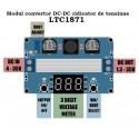 Modul convertor DC-DC ridicator de tensiune max.100W (step up) cu voltmetru digital LTC1871