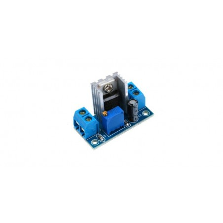 Modul convertor DC-DC coborator de tensiune (step down), liniar, IN:4.2-40V, OUT:1.2-37V (max1.5A), LM317