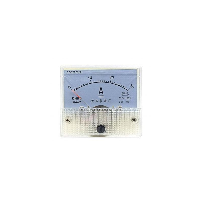 Ampermetru analogic de panou 30A curent continuu