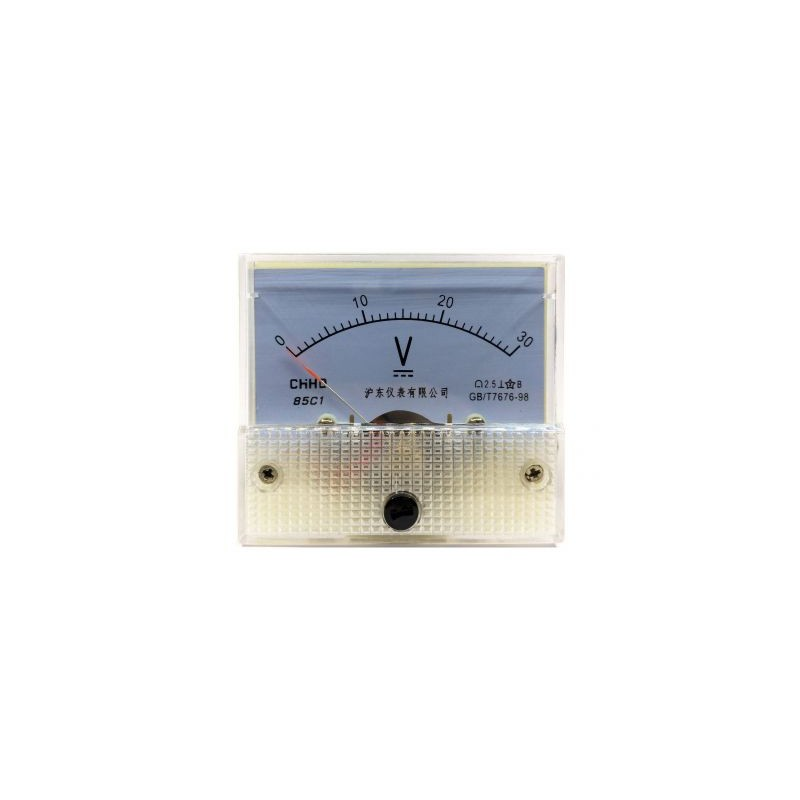 Voltmetru analogic de panou 30V curent continuu