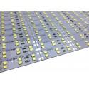Banda led HARD STRIP led dublu 2835 alb rece,  aluminiu, 144LED/m, alimentare 12V