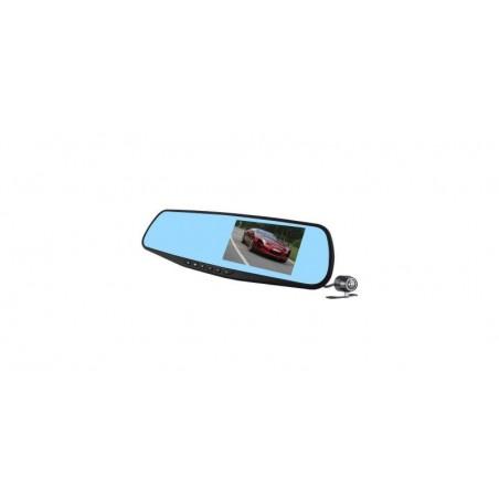 Camera auto cu DVR si display in oglinda retrovizoare universala, FullHD, neagra