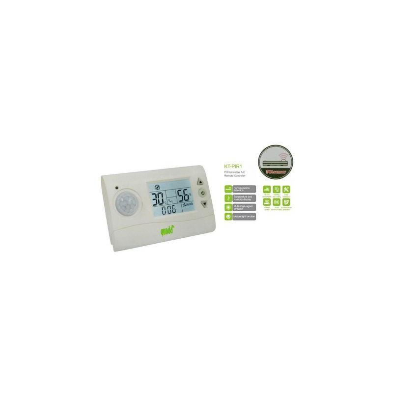 Telecomanda / controller universal aer conditionat Qunda, senzor de miscare PIR, afisare temperatura si umiditate KT-PIR1