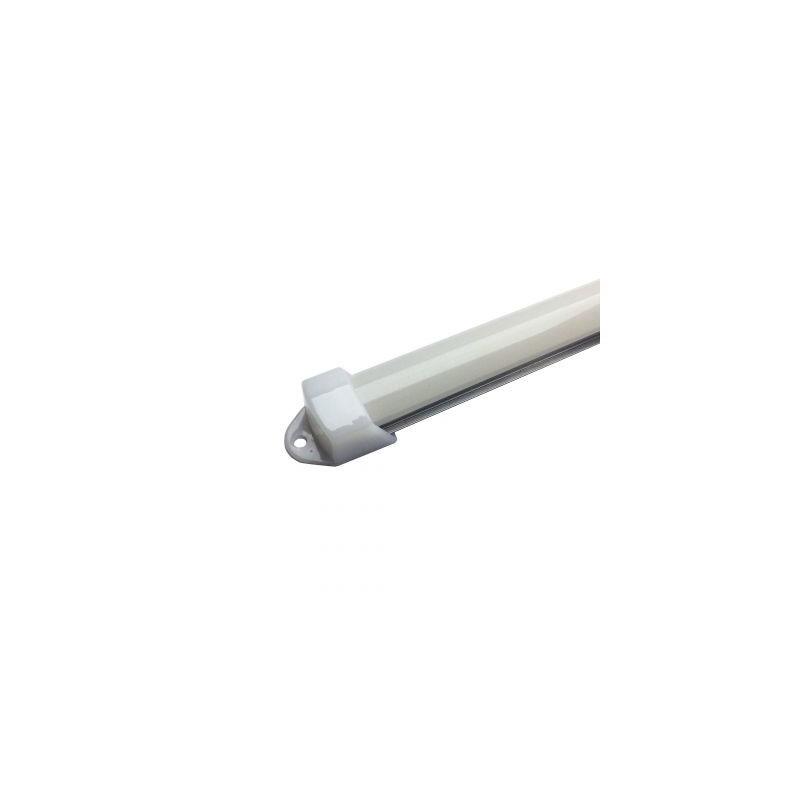 Profil aluminiu / Canal Banda Led Hard Strip, capac alb mat
