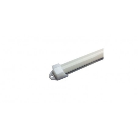 Profil aluminiu / Canal Banda Led Hard Strip, capac alb mat, Lungime 1m