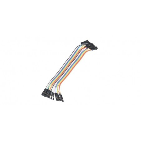 Set cabluri breadboard cu conectori mama-mama, lungime 10cm, set 40 fire colorate