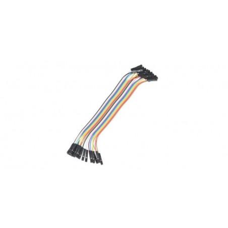 Set cabluri breadboard cu conectori mama-mama, lungime 30cm, set 40 fire colorate