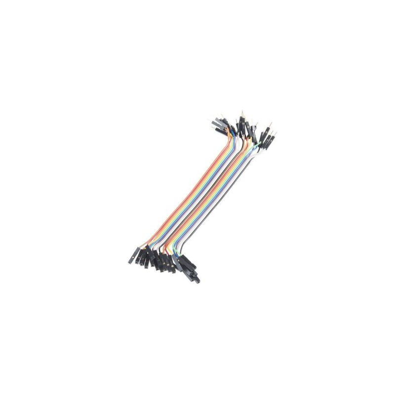 Set cabluri breadboard cu conectori mama-tata, lungime 10cm, set 40 fire colorate