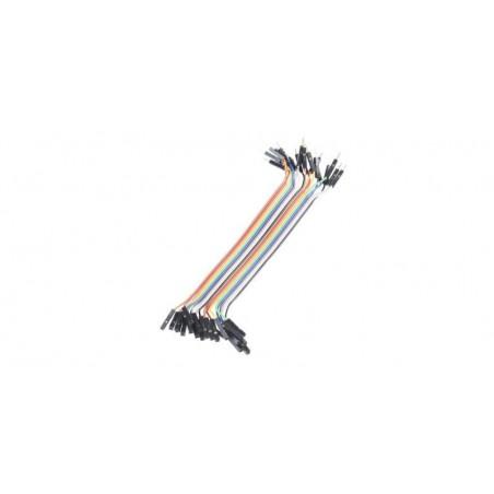 Set cabluri breadboard cu conectori mama-tata, lungime 20cm, set 40 fire colorate
