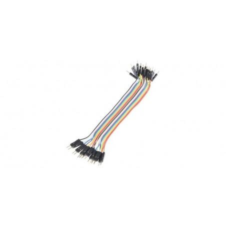 Set cabluri breadboard cu conectori tata-tata, lungime 10cm, set 40 fire colorate