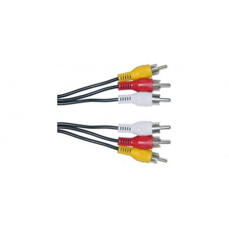 Cablu 3RCA-3RCA 1,5m