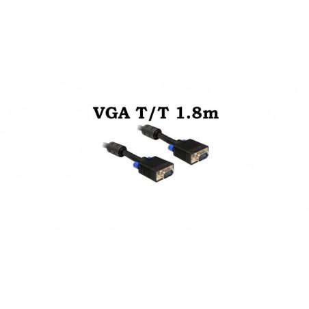 Cablu VGA Tata Tata 1.8m 15 pini, ecranat, cu bobina antiparaziti