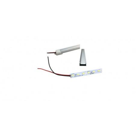 Pachet Banda LED Hard Strip Alb Rece 5630 la 12V + Profil aluminiu si capac mat