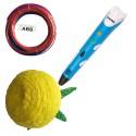 Creion 3D RP-100A pentru desene tridimensionale+set de 3 filamente ABS cadou