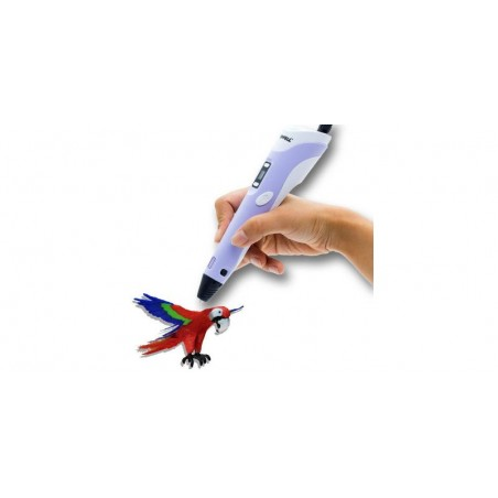 Creion 3D RP-100B cu afisaj digital pentru desene tridimensionale+set de 3 filamente PLA cadou
