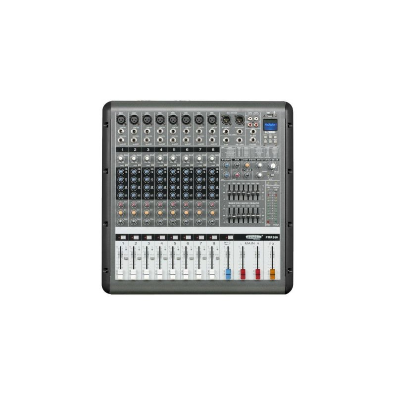Amplificator audio cu mixer 8 canale 860D, 650W x 2