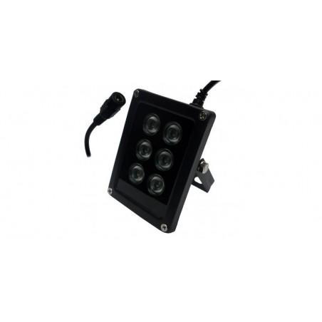 Proiector LED IR, 12V DC, 6 LED