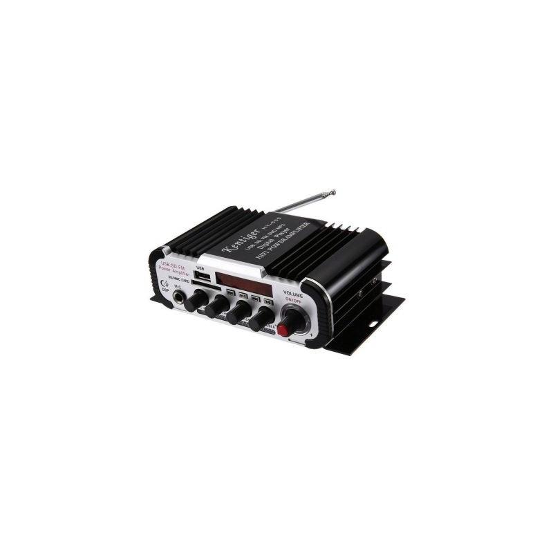 Amplificator audio auto HY-600 cu radio FM, USB, microSD